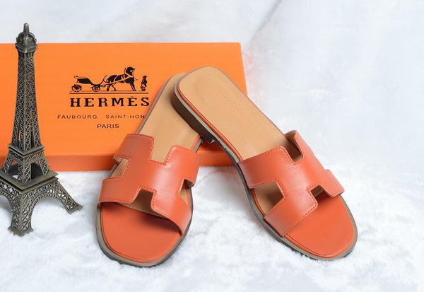 Hermes Slipper Leather HO0418 Orange