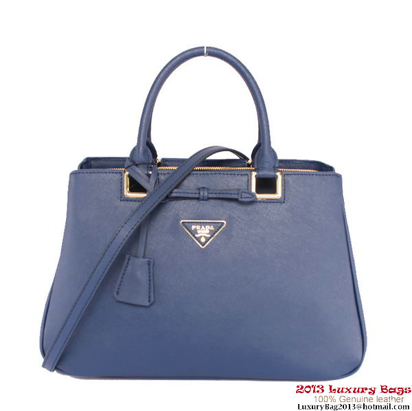 Prada Saffiano Calf Leather Tote Bag BN2248 RoyalBlue