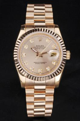 Rolex Datejust Stainless Steel Golden Surface Watch-RD3869