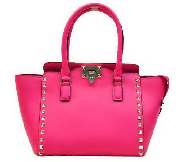 Valentino Garavani Rockstud Medium Tote Bag VO816 Rose