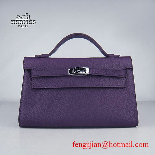 Hermes Kelly 22cm H008 Purple bags