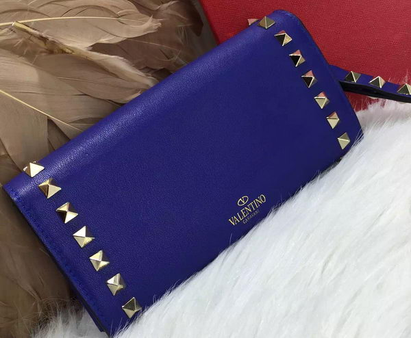 Valentino ROCKSTUD Continental Wallet VG0086 Royal