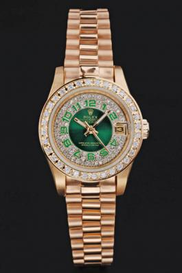 Rolex Datejust Diamond&Green 25 mm Women Watch-RD3847
