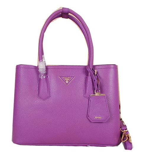 Prada Original Leather Tote Bags BN2756 Purple