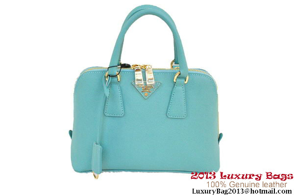 Prada Saffiano Two Handle Bag 25cm BL0838 Light Green
