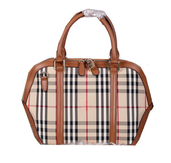 BurBerry Haymarket Check Shoulder Bag BU3371 Brown