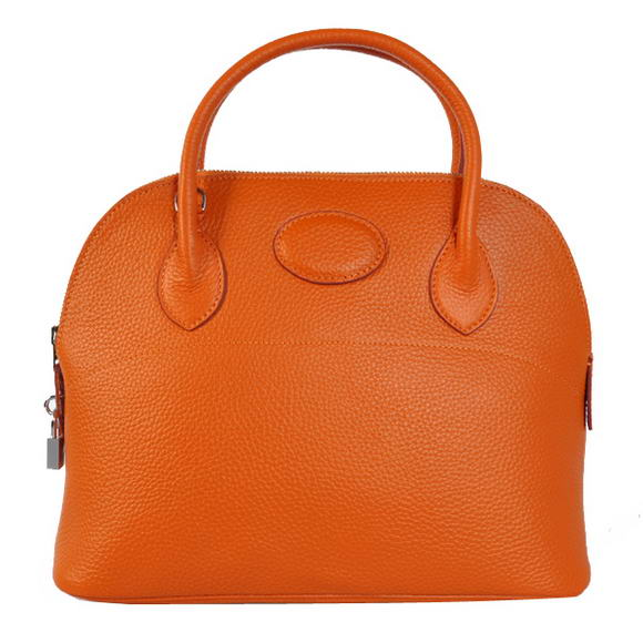 Hermes Bolide 31CM Tote Bags Clemence H1031 Orange