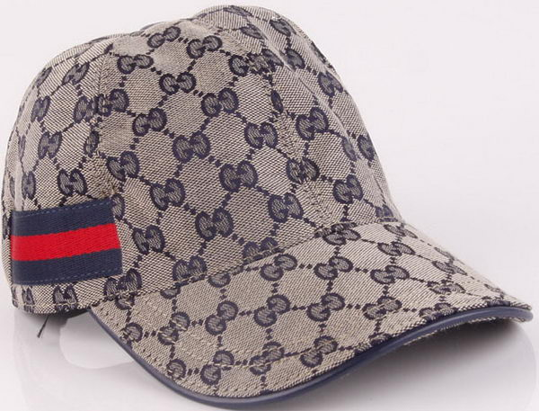 Gucci Peaked Cap GG47 Grey