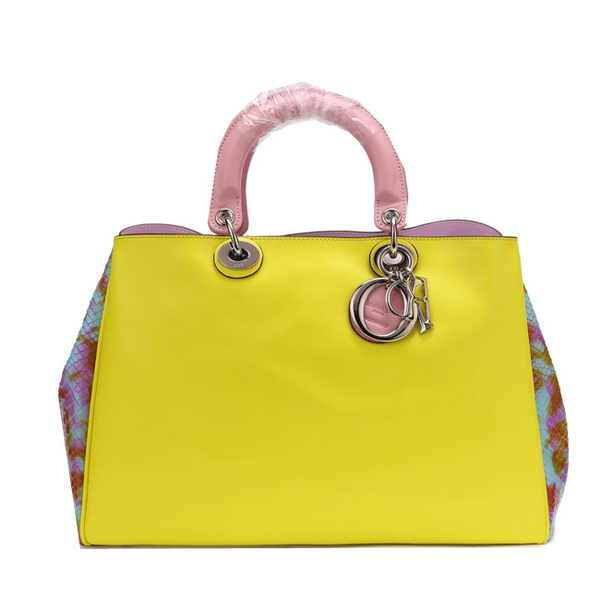 Dior Jumbo Diorissimo Bag in Snake Leather CD0901 Yellow
