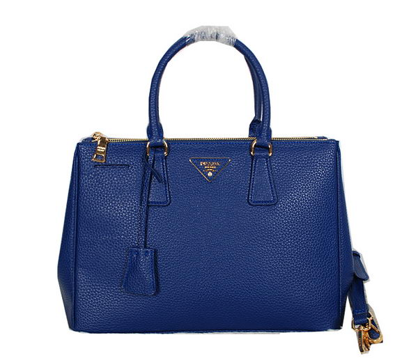 Prada Original Grainy Leather Tote Bag BN2274 Blue
