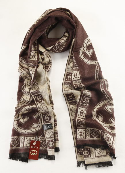 Gucci Scarves Cashmere GG6731A Brown