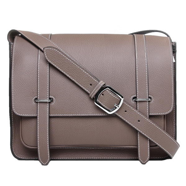 Hermes Etriviere Messenger Bag Togo Leather H1069 Grey