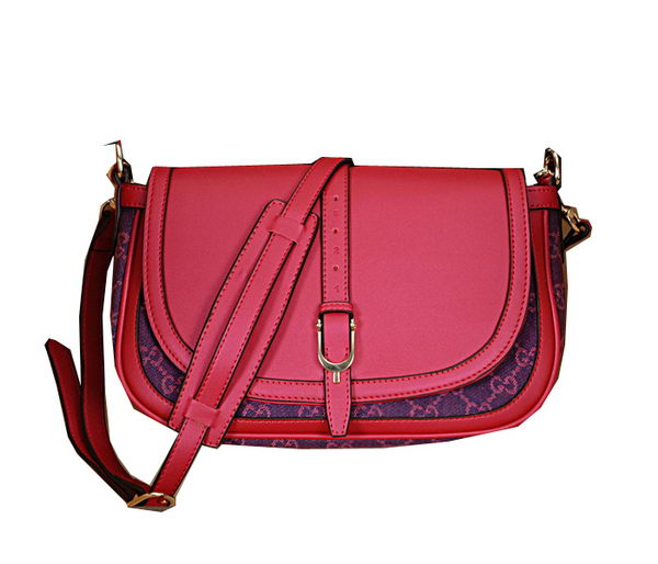 Gucci Coossbody Flap Bag Denim Canvas 336748 Rose