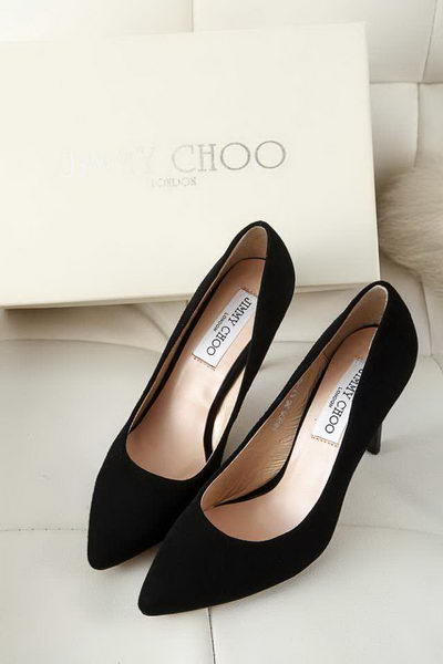 Jimmy Choo Suede Leather Pump JC5101 Black