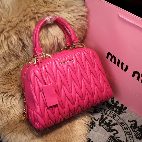 miu miu Matelasse Nappa Leather Top-handle Bag M68062 Rose