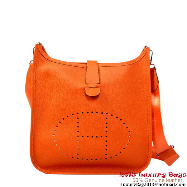 Hermes Evelyn Bag Calf Leather H1188 Orange