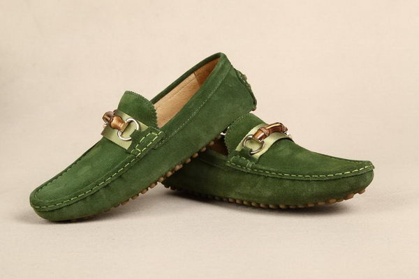 Gucci Suede Leather Casual Shoes GG0396 Green