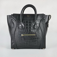 Celine Luggage Jumbo Woman Handbag 98170 Alligator Black