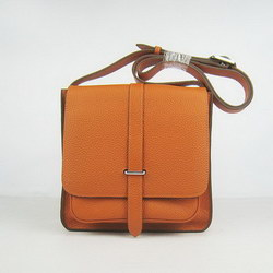 Hermes Orange Cow Leather Messenger Bags H2811