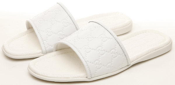 Gucci Slipper Calfskin Leather GG0488 White