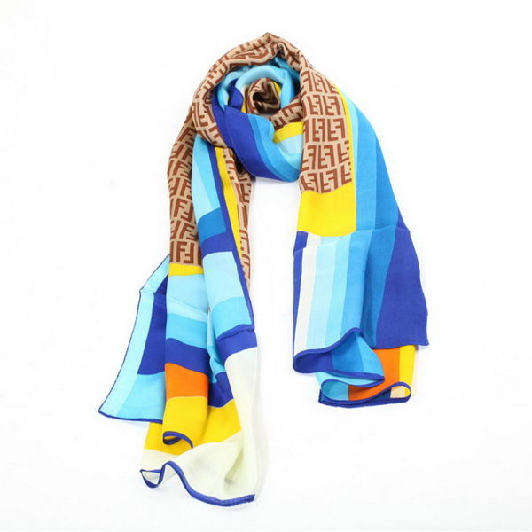 Fendi Scarves Silk WJFD05 Blue