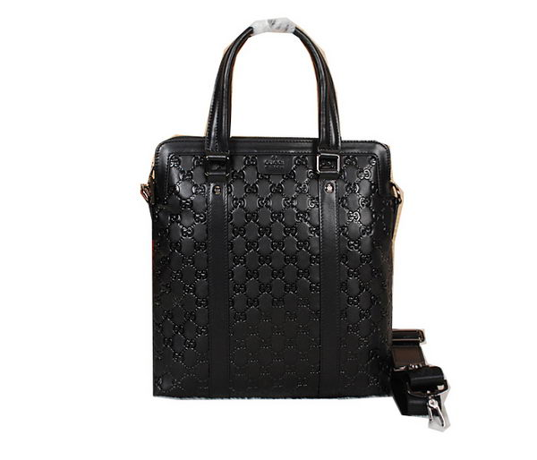 Gucci Original Guccissima Leather Business Tote Bag 33873 Black