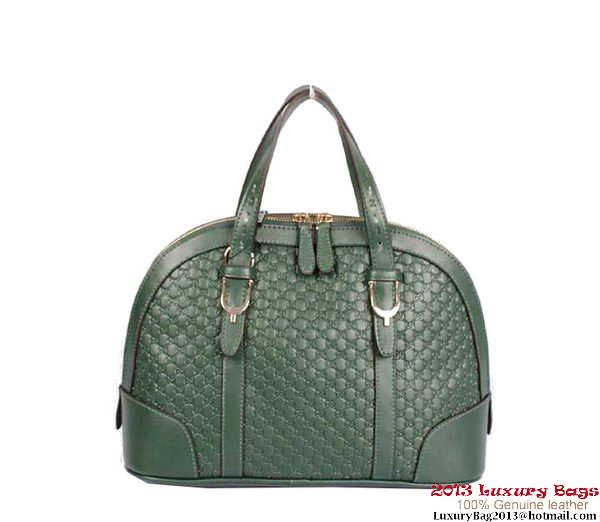 Gucci Nice Small Microguccissima Top Handle Bag 309617 Dark Green