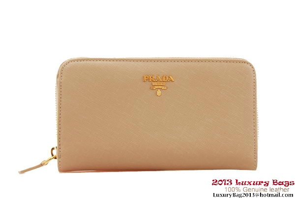 Cheap Prada Saffiano Calf Leather Wallet 1M0506 Light Pink