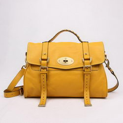 Mulberry Shoulder Bags Yellow Cow Leather 7539