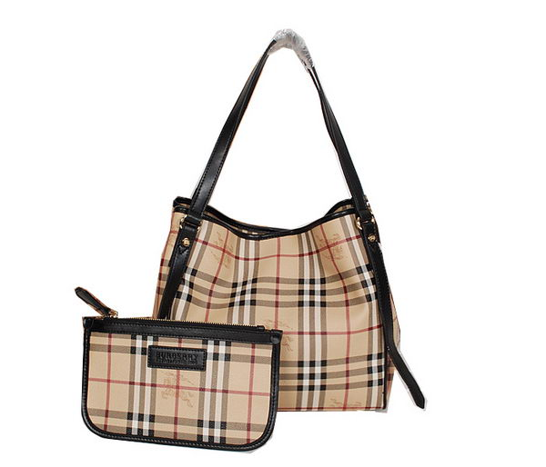 BurBerry Small Original Haymarket Check Tote Bag B8883 Black