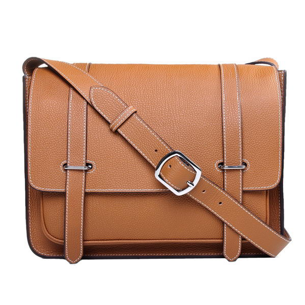 Hermes Etriviere Messenger Bag Togo Leather H1069 Wheat