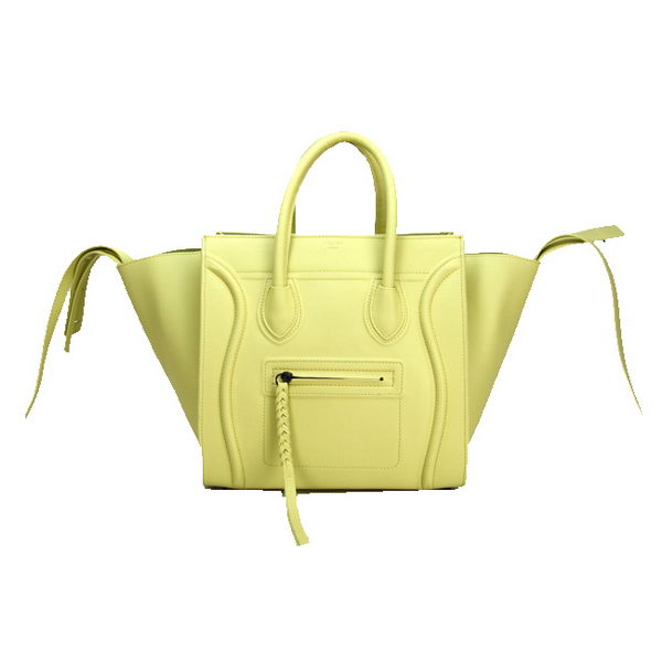 Celine Luggage Phantom Shopper Bags Ferrari Leather 88033 Lemon