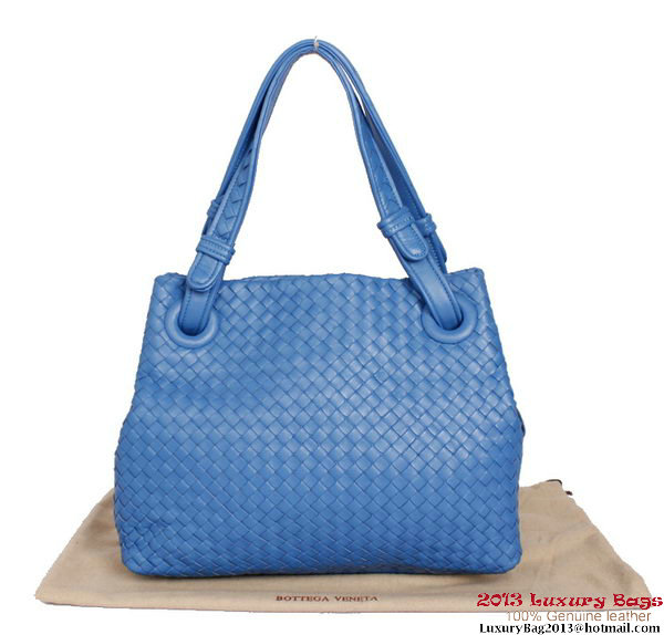 Bottega Veneta Intrecciato Nappa Shoulder Bag BV2730 Blue