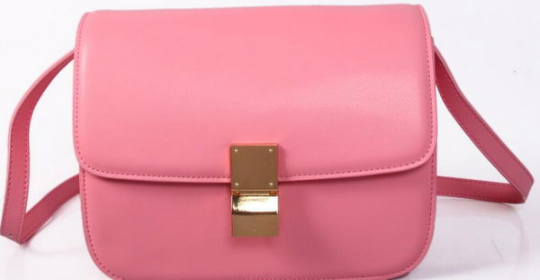 Celine Classic Box Small Flap Bag Smooth Leather C88007C Pink
