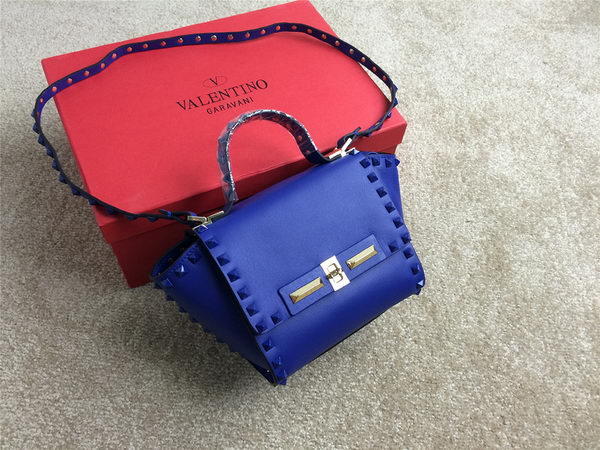 Valentino Garavani Rockstud Shopping Bag Original Leather VO1921 Royal