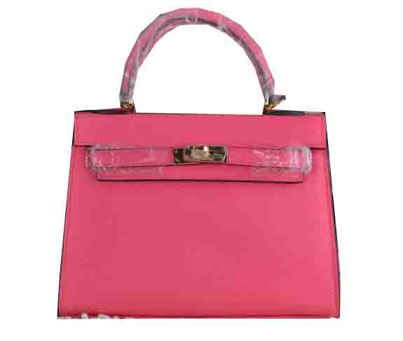 Hermes Kelly 22cm Tote Bag Calfskin Leather Rosy
