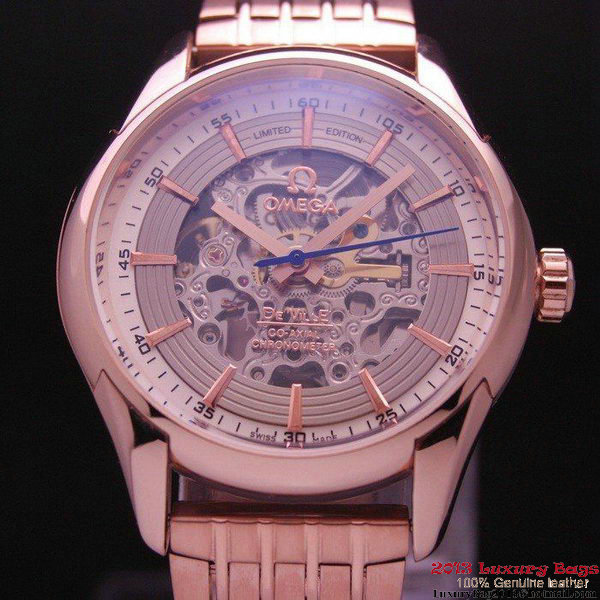 OMEGA DE VILLE Tourbillon Watches Red Gold on Red Gold Steel Strap Om7019