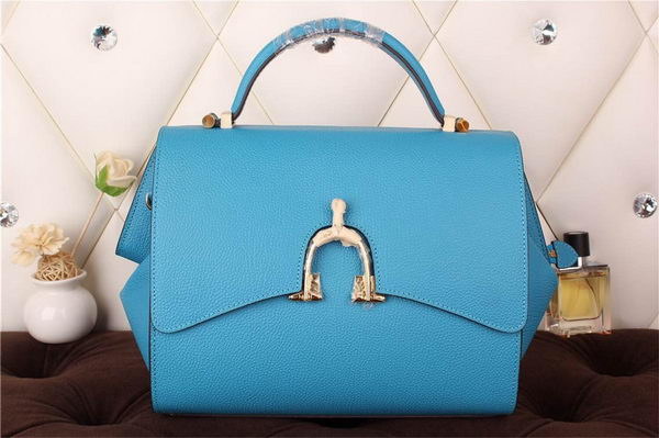 Hermes Stirrup Top Handle Bag H30560 Blue