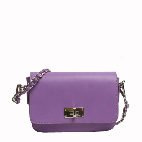 PRADA Saffiano Calf Leather Shoulder Bag BT0830 Purple