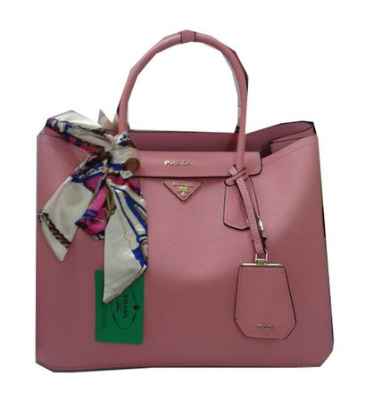 Prada Saffiano Calf Leather Tote Bag BN2756 Pink