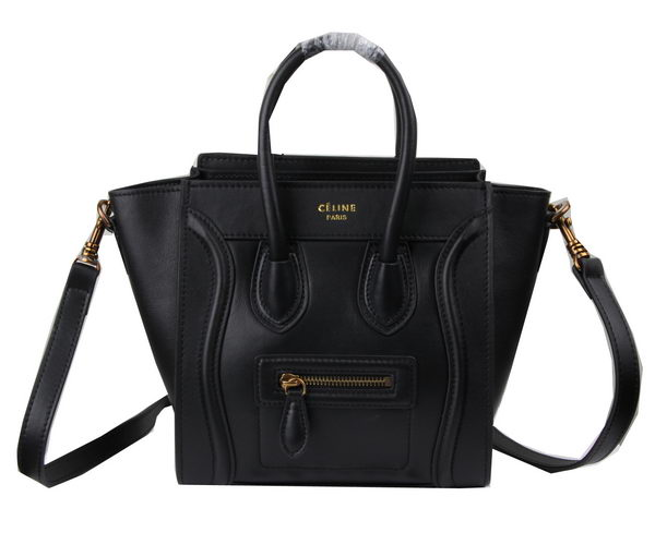 Celine Luggage Nano Bag Original Leather C3308S Black