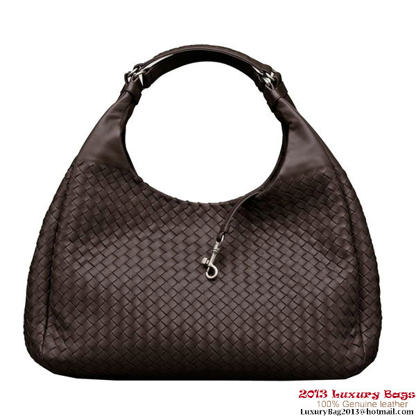 Bottega Veneta 124864 V0016 2072 Intrecciato Nappa Large Campana Hobo Bag Ebano