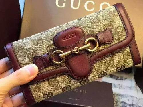 Gucci Lady GG CanvaS Continental Wallet 382274 Burgundy