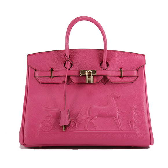 Hermes Birkin 35cm Horse-Drawn 6089 Roseo Golden