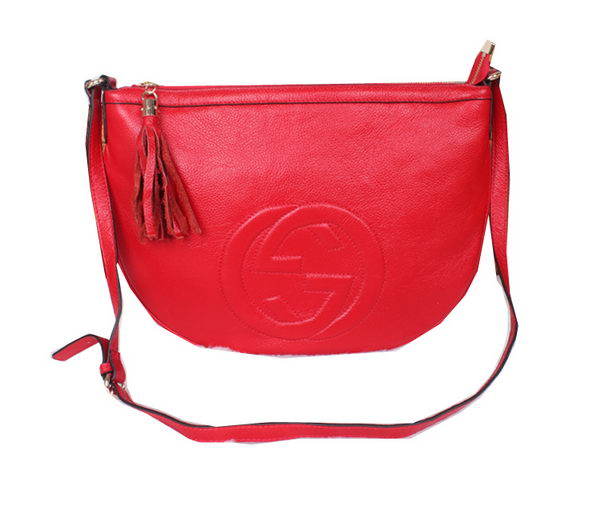 Gucci Soho Leather Messenger Bag 295175 Red