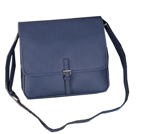 PRADA Saffiano Leather Messenger Bag VA3081 Royal