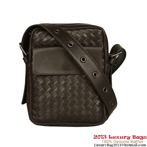 Bottega Veneta Nero Intrecciato VN Cross Body Bag B16050 Brown