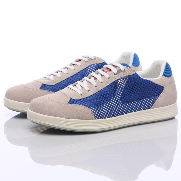 Prada Suede Leather Men Shoe PD305 Blue