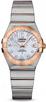 Omega Constellation Brushed Quarz Small Watch 158628AM