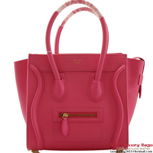 Celine Luggage Micro Boston Bags Smooth Leather Rose